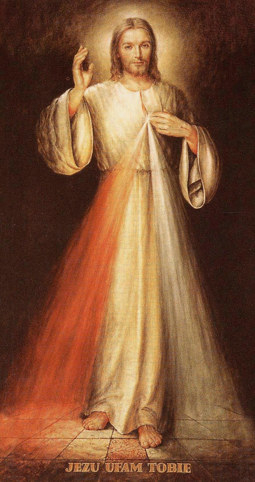 Znalezione obrazy dla zapytania jezus miłosierny obraz